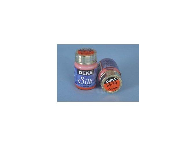 Barva na hedvábí Deka Silk 35-10 pomerančová 25 ml