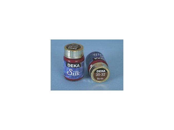 Barva na hedvábí Deka Silk 35-32 bordó 25 ml