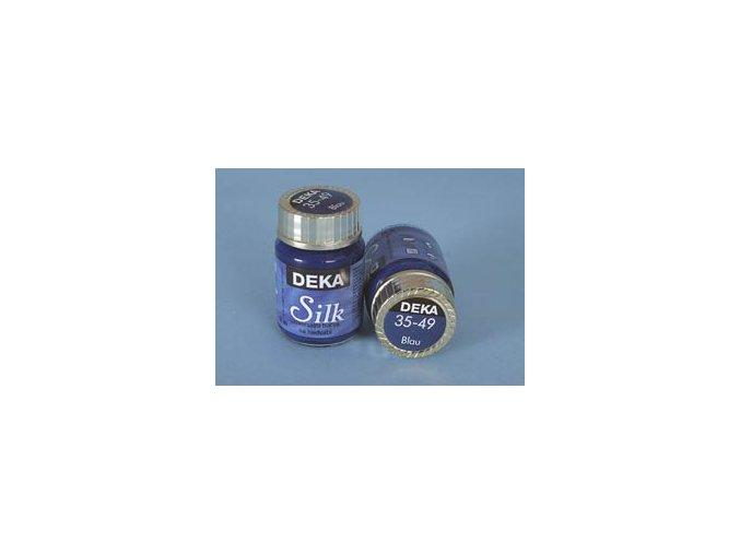 Barva na hedvábí Deka Silk 35-49 modrá 25 ml