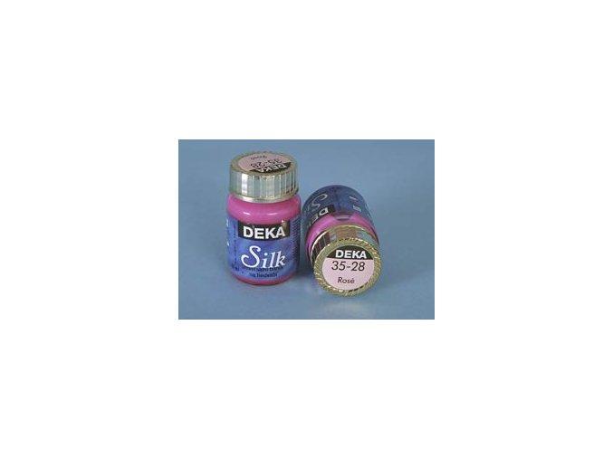 Barva na hedvábí Deka Silk 35-28 světle růžová 25 ml