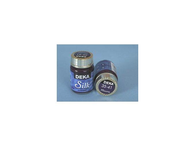 Barva na hedvábí Deka Silk 35-41 švestková 25 ml