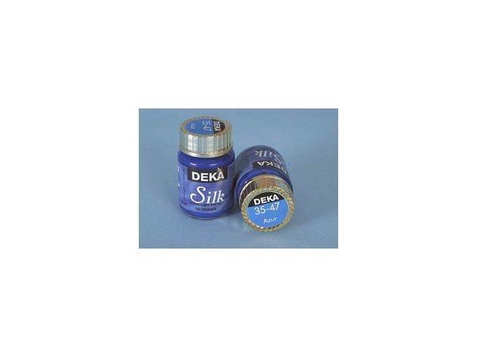 Barva na hedvábí Deka Silk 35-47 azurová 25 ml