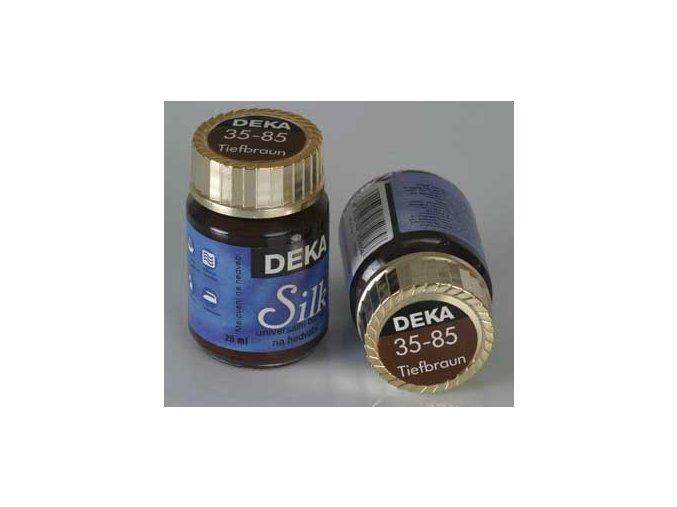 Barva na hedvábí Deka Silk 35-85 tmavě hnědá 25 ml