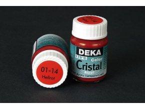 Deka ColorCristal 01-14 světle červená 25ml
